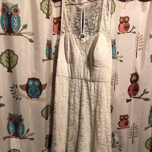 White lace deb dress